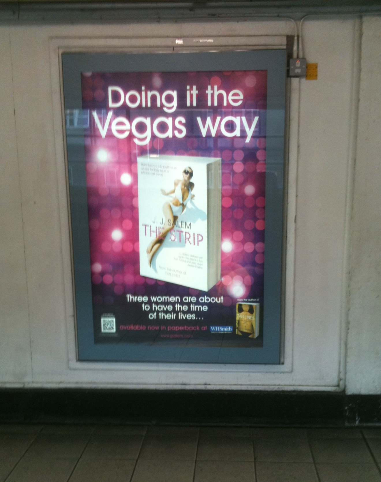 Jj Salem's The Strip Is Out This Friday 15th July Pan Macmillan Has Done  Some Excellent Advertising, Including Coverage On The London Underground