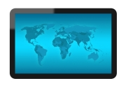 LCD Touch Screen Tablet with USA Map