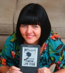Mel Sherrat with Kindle
