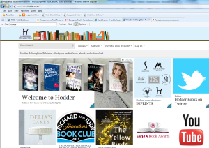 Hodder homepage. Emma Garcia