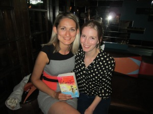 Victoria Fox and her editor Sally Williamson