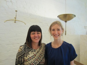 Mel Sherratt with Madeleine Milburn
