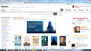 Amazon's publication banner on the Kindle Books page